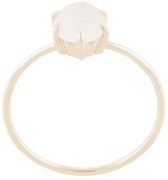 Natalie Marie Rose Cut Ring with Moonstone
