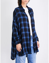 KENDALL + KYLIE KENDALL & KYLIE Checked boyfriend-fit flannel shirt