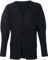Homme Plissé Issey Miyake - snap button pleated cardigan - men - Recycled Polyester - 2