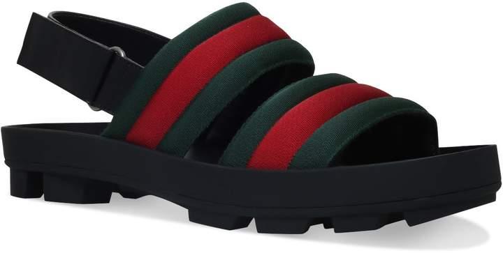 Gucci Sam Webbed Sandals