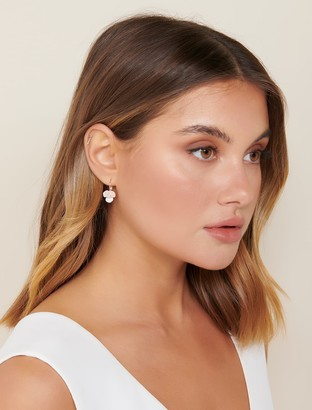 Forever New Charlotte Diamante Clover Drop Earrings - Rose Gold - 00