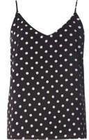 Dorothy Perkins Womens **Only Black Polka Camisole Top- Black