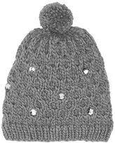 Alice Hannah Women's Cable Knit with Gem Beanie