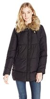 U.S. Polo Assn. Women's Sherpa Lined Puffer Parka with Faux Fur Collar