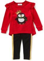 Flapdoodles Little Girls 2T-6X Christmas Penguin Tunic & Leggings Set