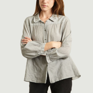 Bellerose Blue Grey Micro Striped Sultan Shirt - 3