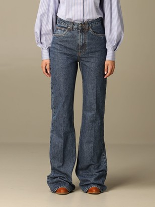Etro Jeans Jeans In Flared Stretch Denim