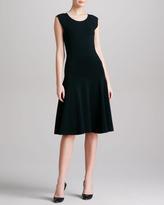 Donna Karan Dropped Waist Fit & Flare Dress, Black