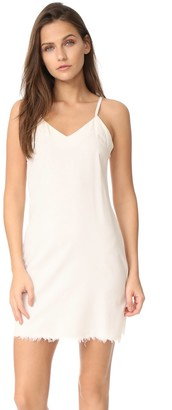 MinkPink Women's Breeze Raw Hem Slip Dress