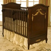 The Well Appointed House Regency Crib in Antique Cherry with Gold Leafing