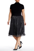 Melissa McCarthy Pleated Metallic Skirt (Plus Size)