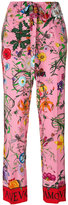 Gucci pyjama style floral trousers - women - Silk - 38
