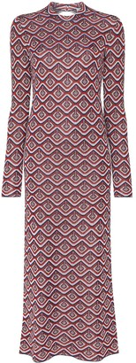 Paco Rabanne Cutout Jacquard Lurex Dress