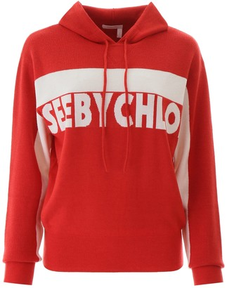 See by Chloe Hooded Sweater With Logo