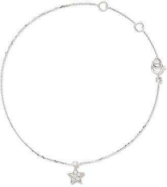 As 29 18kt white gold Essentials star diamond bracelet