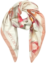 Jimmy Choo Ari Shoe and Floral Printed Silk Square Scarf