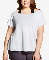 Soffe Curvy Plus Size Off-The-Shoulder Dance T-Shirt