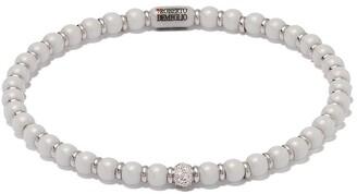 Roberto Demeglio 18kt white gold, diamond and white ceramic Sfera bracelet