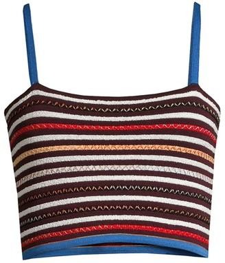 M Missoni Striped Knit Cropped Tank Top