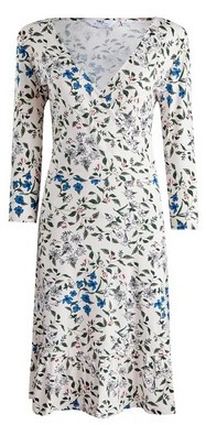 Dorothy Perkins Womens Dp Tall Multi Colour Floral Print Wrap Dress