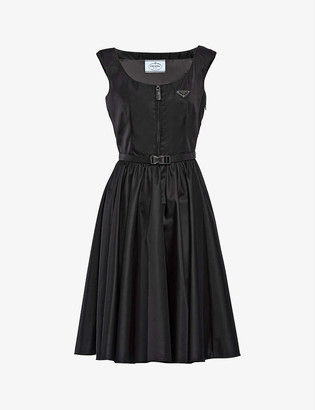 Prada Zip-up recycled-polyamide mini dress