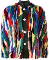Marni fur snap closure cape - women - Mink Fur/Silk/Goat Skin - 42
