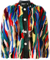 Marni fur snap closure cape - women - Silk/Goat Skin/Mink Fur - 42