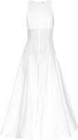 Natasha Zinko Flounce-hem cotton maxi dress