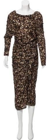 Givenchy Printed Midi Dress w/ Tags