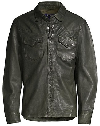 Polo Ralph Lauren Western Leather Shirt Jacket