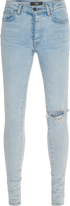 Amiri Broken Stretch Distressed Skinny Jeans
