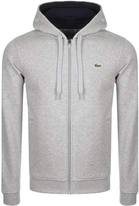Lacoste Sport Full Zip Hoodie Grey