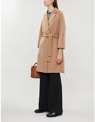 Selfridges S Max Mara Arona single-breasted wool coat