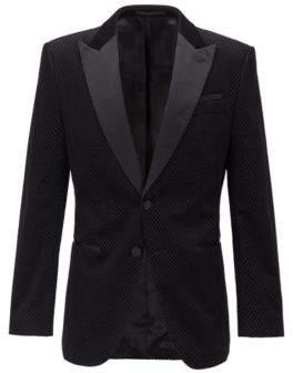 Slim-fit dinner jacket with silk trims