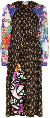 Rentrayage Palm Beach Fiesta panelled shirt dress