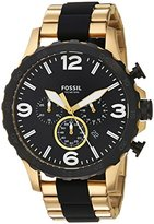 Fossil Men's Quartz Stainless Steel Casual Watch, Color:Gold-Toned (Model: JR1526)