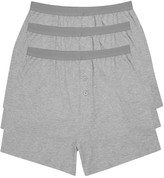 M&Co Cotton jersey plain grey boxers three pack