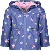 Osh Kosh Oshkosh Bgosh Girls 4-8 Blue Floral Print Midweight Fleece Jacket