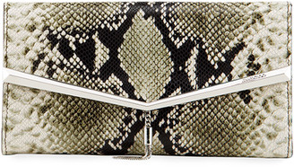 Jimmy Choo Elish Snake-Embossed Clutch Bag