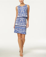 Charter Club Paisley-Print Tiered Dress, Only at Macy's