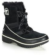 Sorel Tivoli II Faux Fur-Trimmed Suede & Leather Lace-Up Boots