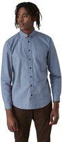 Frank + Oak Natural Wonder Print Poplin Shirt in Sky Blue