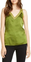 Ted Baker Mesh Detail Textured Satin Tank Top