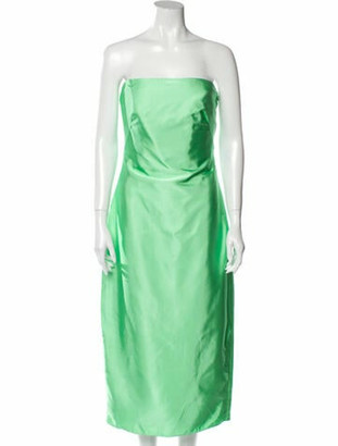 Brandon Maxwell 2019 Midi Length Dress w/ Tags Green