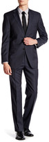 Hart Schaffner Marx Blue Plaid Two Button Notch Lapel Wool Suit