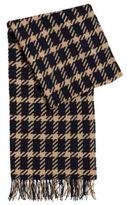 HUGO BOSS Graphic scarf in virgin wool