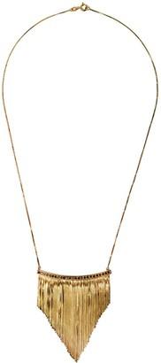 Iosselliani 18kt Yellow Gold Black Diamond Fringe Necklace