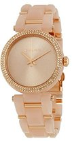 Michael Kors MK4322 Delray Pavé Gold-Tone & Blush Acetate Women's Watch