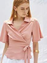 Wrap Blouse Pink