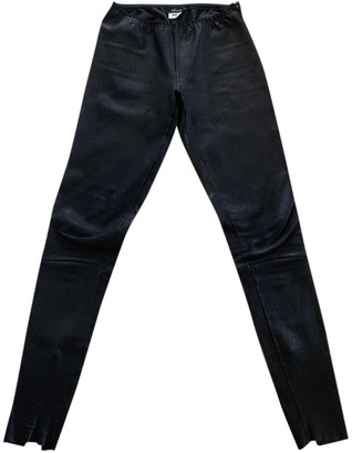 Jitrois Black Leather Trousers